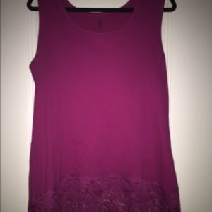 Torrid lace bottom tank top 3x